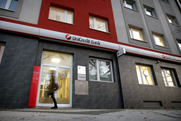 UniCredit Bank branch in Bratislava