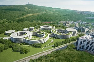 The visualisation of the new Eset R&D Campus by a11 atelier.