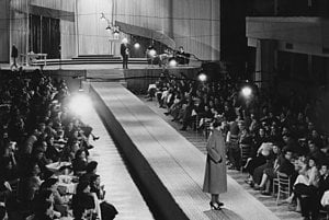 Fashion show in PKO Bratislava. Around 1954. Private collection