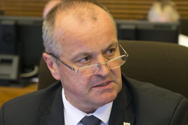 Defence Minister Peter Gajdoš during the May 17 cabinet session.