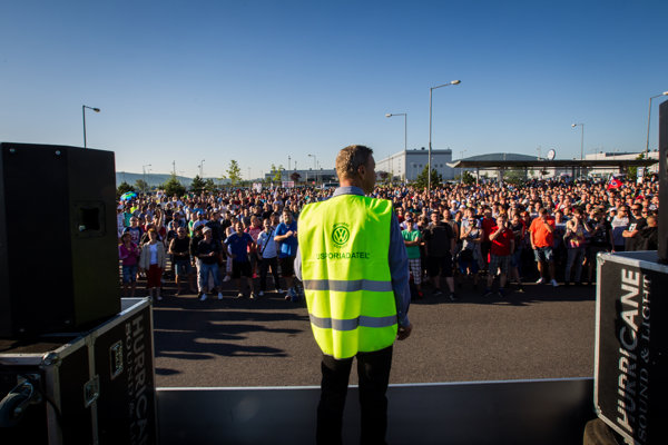 The strike in Volskwagen Slovakia began.