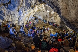 The July 2 concert in Pružinská Dúpna Cave