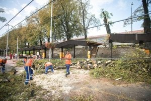 It took long to clean the branches and trees near the Bratislava Main Station