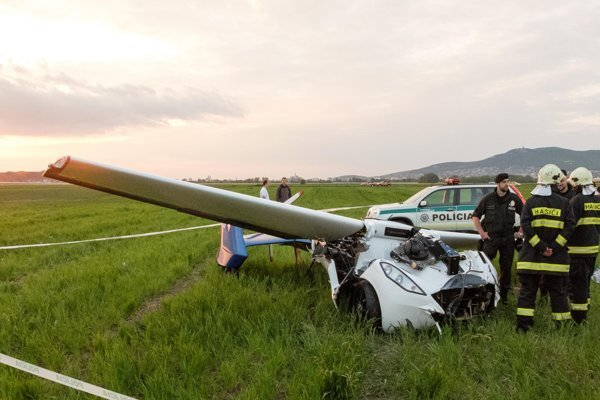 The AeroMobil crashed at Nitra-Janíkovce airport