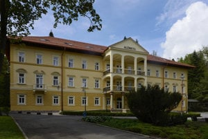 The Alžbeta (Elizabeth) Hotel in the Bardejov Spa