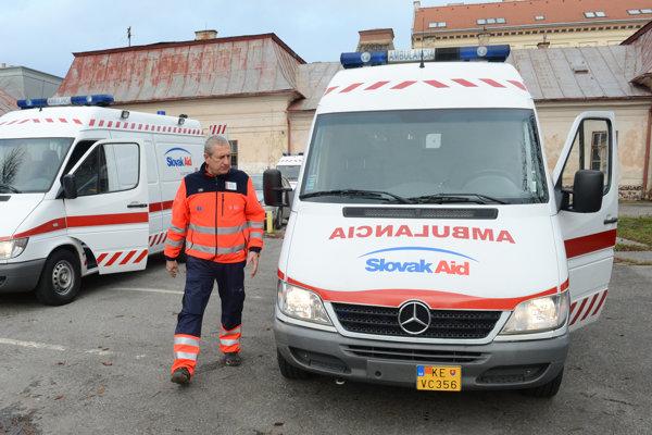 Falck ambulances, illustrative stock photo