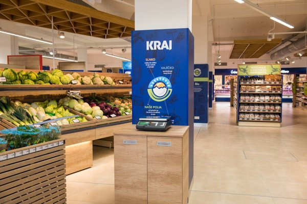 Terno refurbished its supermarket into Kraj.