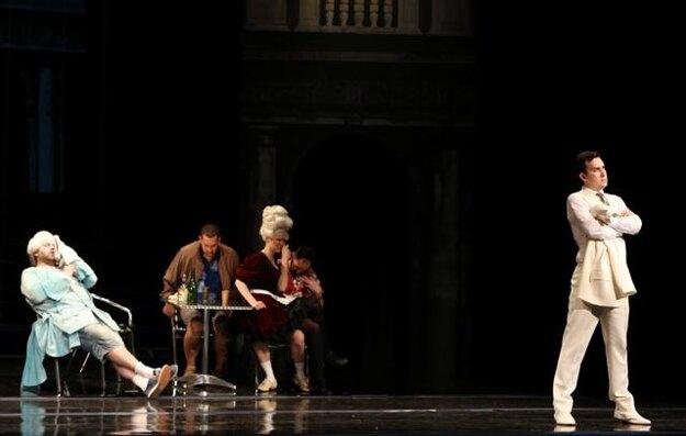 King Theodore in Venice (T.Šelc as Taddeo, K. Vylíčilová as Lisetta, R. Gatin as Sandrino)