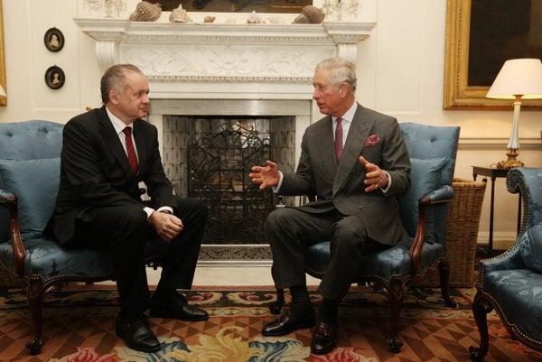 Slovak President Andrej Kiska (l) and Prince Charles