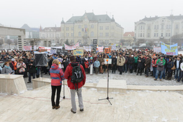 Teachers' protest in Levice, January 27