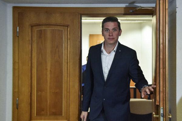 Rybanič leaving the court, September 25, 2018.