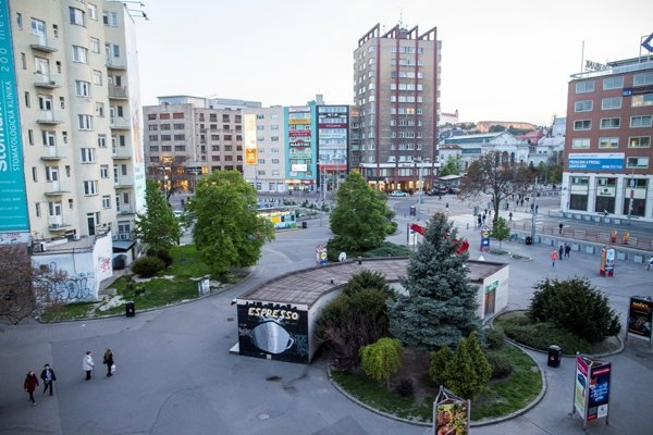 Kamenné Square before revitalisation.
