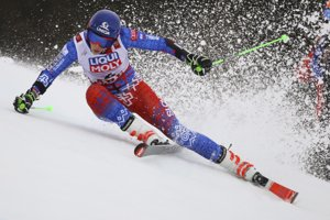 Slovakia's Petra Vlhova competes during the first run of the women's giant slalom, at the alpine ski World Championships in Are, Sweden.
