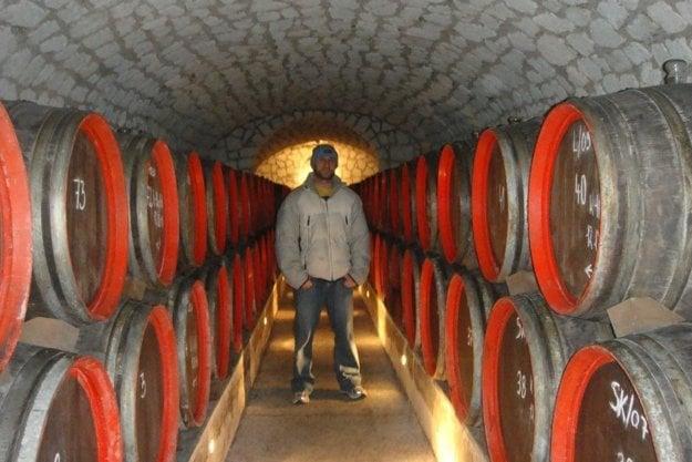 Touring wine cellars in the Tokaj region