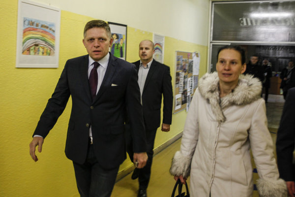 PM Fico and his wife voted early morning in Bratislava.