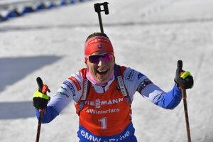 Anastasia Kuzmina won the women 10 km pursuit in Holmenkollen, Norway.