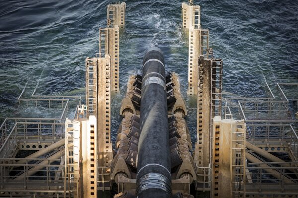 The Nord Stream 2 pipeline is installed in Swedish waters.