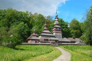 Wooden church near Bardej.