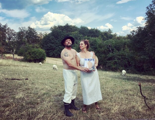Lucie Meisner and Braňo Uherek in their orchard.