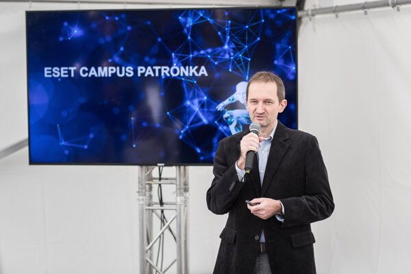 Eset chief operations officer Pavel Luka introducing the Eset campus project.