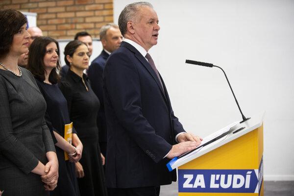 Za Ľudí chair Andrej Kiska.