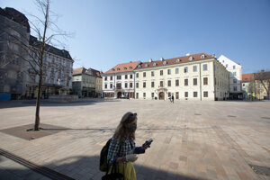 Bratislava's Main Square.