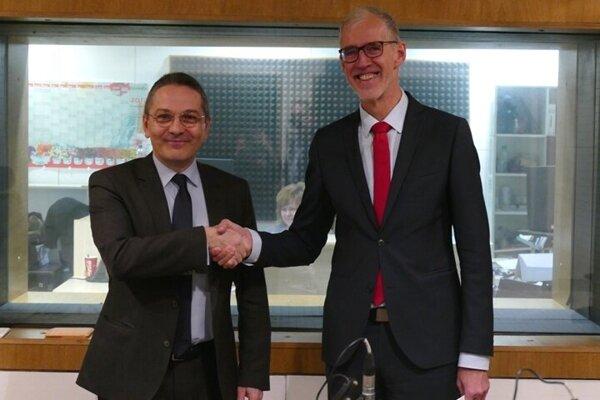 Ambassador Christophe Léonzi and Ambassador Joachim Bleicker