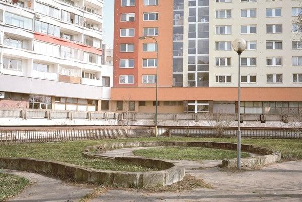 Námestie Hraničiarov in Petržalka – here the Auliesel sub-camp was located.