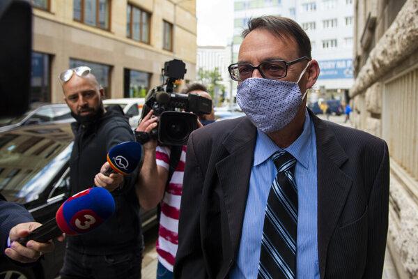 Former general prosecutor Dobroslav Trnka attends a disciplinary hearing at the General Prosecutor's Office in Bratislava on June 2, 2020.