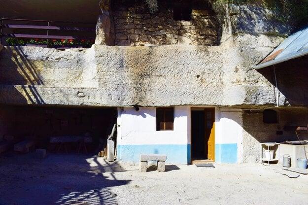 The Brhlovce rock dwellings.