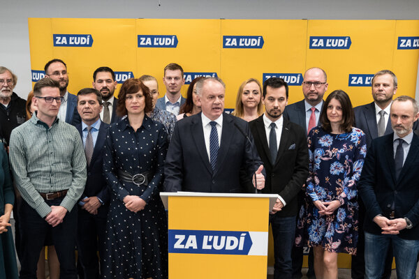 Za Ľudí party shortly after parliamentary election