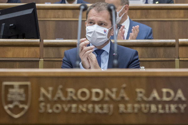 PM Igor Matovič in the parliament.