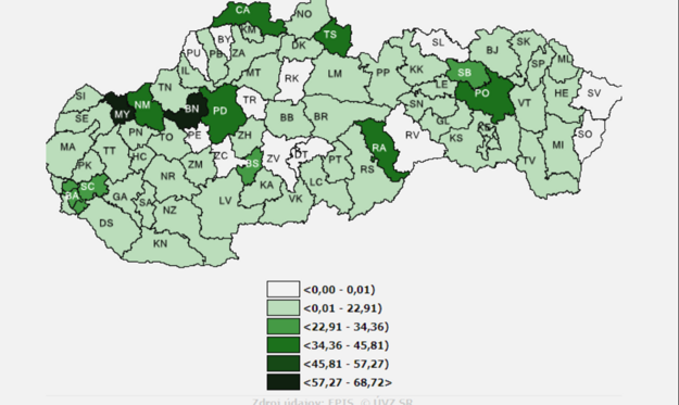 COVID-19 cases occurence per 100,000 inhabitants based on where the infected have permanent residence.