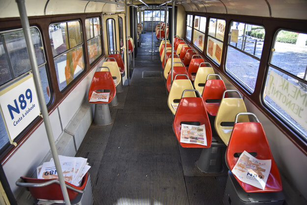 People can read about the November 1989 events in the N89 tram in Bratislava.