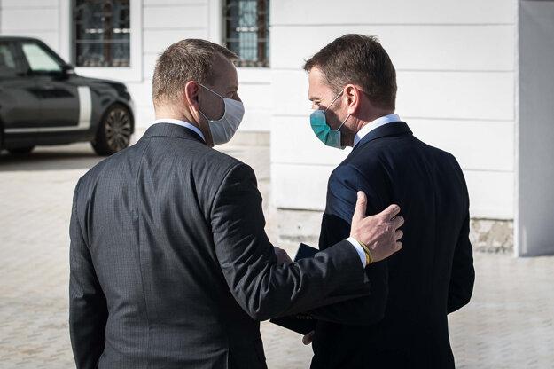Boris Kollár and Igor Matovič during the coalition talks in March 2020.