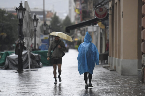 It's going to be a rainy weekend in Slovakia.