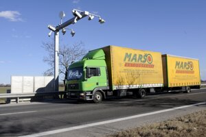 Trucks have been paying for kilometres driven on selected roads across Slovakia for 10 years.