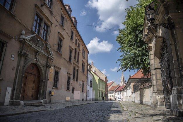 Kapitulská Street in the Old Town of Bratislava.
