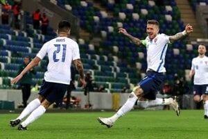 The Slovak national team won against Northern Ireland 2:1 in Belfast and advanced to the European Championship.