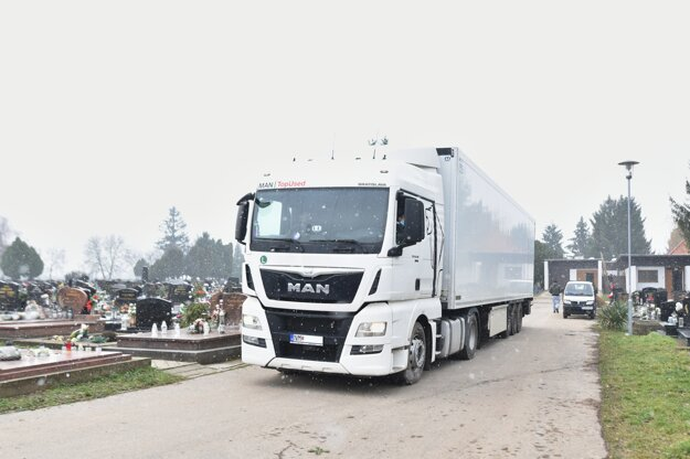 Cooling trailer in Trnava.