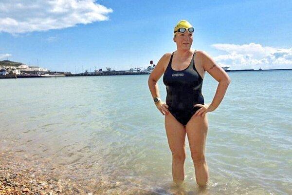 Paramedic Zuzana Jusková hopes to swim across the Strait of Gibraltar very soon.