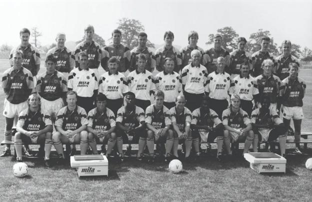 The Aston Villa FC team photo from 1990/91.