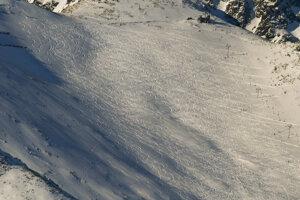 Ski slope in Lomnické Sedlo saddle