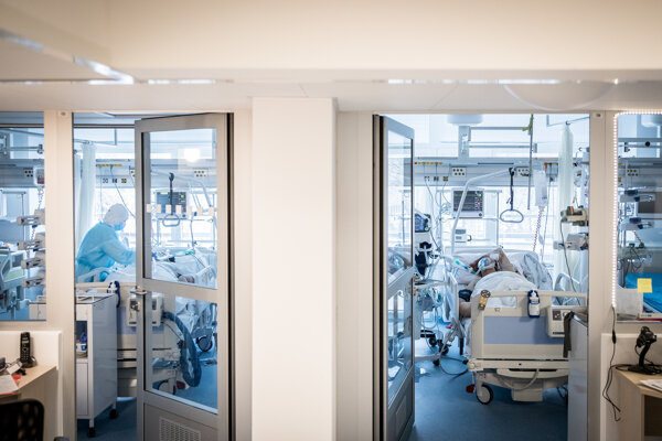 Covid department in Galanta hospital