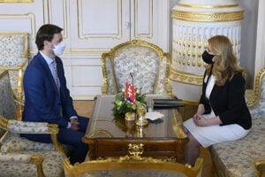President Zuzana Čaputová met with Eduard Heger, who is said to replace Igor Matovič as the prime minister.