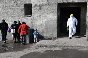 Disinfection of settlement in Sečovce