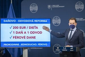 Finance Minister Igor Matovič introducing the tax and levy reform.