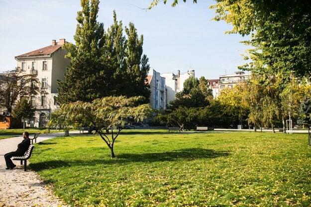 Landerer Park in Bratislava.