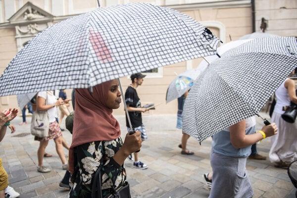 The Umbrella March is held in Bratislava this Sunday, June 20, 2021.