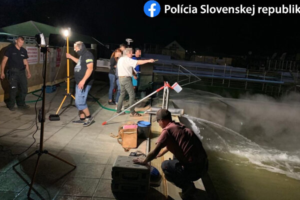 Police investigation in Podhájska, August 2020
